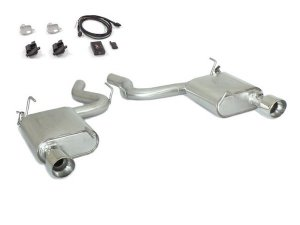 Ragazzon Stainless Steel Rear Sports Silencers with 102mm Tail Pipes + Electric Valves (Ford Mustang Coupé 2.3 Ecoboost)